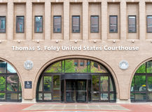 United States Courthouse in Spokane, Washington. The federal courthouse in Spokane, Washington, named after Thomas S. Foley Stock Image