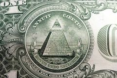 United States Currency One Dollar Bill Stock Photography