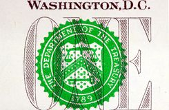 United States Currency One Dollar Bill Stock Photos