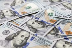 United States currency, One Hundred Dollars Stock Photography