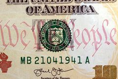 United States Currency Ten Dollar Bill Stock Photography