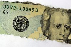 United States Currency Twenty Dollar Bill Stock Photography