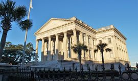 United States Custom House. The United States Custom House in Charleston, South Carolina was completed in 1879 and is one of several historical custom buildings royalty free stock images