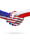 United States and Czech Republic flags concept cooperation, business, sports competition Stock Photography