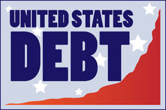United States Debt Royalty Free Stock Images