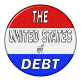 United States Debt pin isolated Stock Images