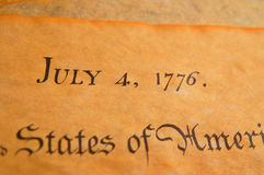 United States Declaration of Independence Stock Photography
