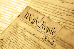 United States Declaration of Independence. SOFT FOCUS Royalty Free Stock Images