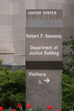 United States Department of Justice Building Stock Image