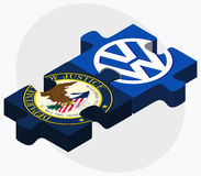 United States Department of Justice and Volkswagen Royalty Free Stock Images