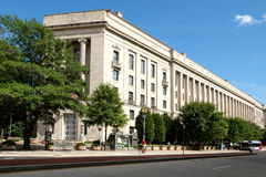 The United States Department of Justice in Washington D.C. Stock Image