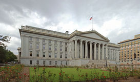United States Department of Treasury. A photo of the United States Department of Treasury building at the National Mall in Washington D.C., United States of Royalty Free Stock Photography