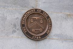 United States Department of the Treasury Seal stock photography