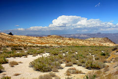 United States Desert Landscape. Wide open spaces of the Nevada desert in the southwestern United States Stock Photo