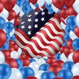 United of states with design balloons Royalty Free Stock Photos