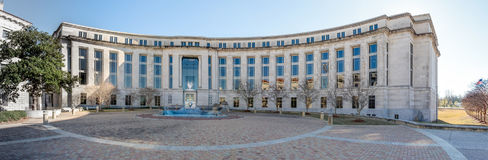 United States District Court in Jackson Mississippi. Panorama view of the federal courthouse in Jackson Mississippi Stock Images