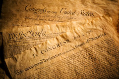 United States Documents. Declaration of Independence, Constitution and Bill of Rights, three of the most important documents in the history of the United States Stock Image