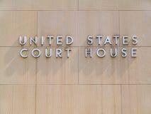 United States domstolsbyggnad Royaltyfri Bild