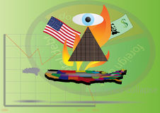 The United States economy. Default of economy of the United States of America Stock Photography