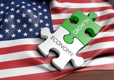 United States economy and financial market growth concept. 3D rendered concept of the United States` economy and financial market growth Stock Image