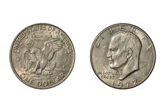United States Eisenhower dollar of 1972 stock photo