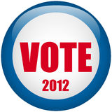 United States Election Vote Button. Vector - United States Election Vote Button Royalty Free Stock Photos