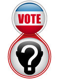 United States Election Vote Button. Stock Image