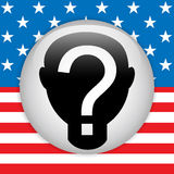 United States Election Vote Button. Stock Images