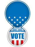 United States Election Vote Button. Vector - United States Election Vote Button Royalty Free Stock Photo