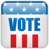 United States Election Vote Button. Vector - United States Election Vote Button Stock Photos