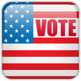 United States Election Vote Button. Vector - United States Election Vote Button Stock Photography