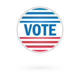 United States Election Vote Button Royalty Free Stock Photography