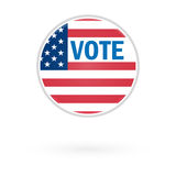 United States Election Vote Button Stock Photo