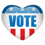 United States Election Vote Heart Button. Vector - United States Election Vote Heart Button Royalty Free Stock Image