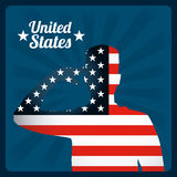 United states emblem. Design, vector illustration eps10 graphic Royalty Free Stock Photos