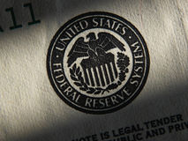 United States Federal Reserve System symbol. Close up stock photos