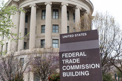 United States Federal Trade Commission. WASHINGTON, DC - MARCH 2016: United States Federal Trade Commission building in Washington, DC Royalty Free Stock Photos