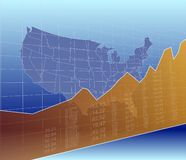 The United States Finance and Economy, ascending, success Stock Images