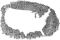 United States Fingerprint Stock Image