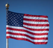 United States Flag. Waving Proudly in the Breeze stock images
