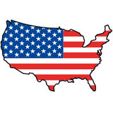 United states with flag Royalty Free Stock Photos