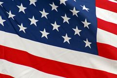 United States Flag. Blowing in the wind Stock Photography