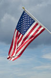United States Flag. Flies over North Beach, Maryland Royalty Free Stock Photography