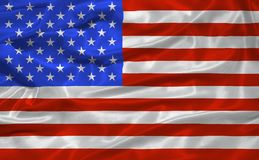 United States Flag 3. Illustration of waving American Flag close up Stock Photos