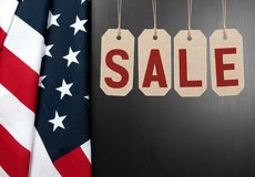 United States flag.  American holiday. Sale. United States flag. American holiday. Sale. USA celebrate Stock Images