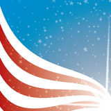 United States Flag background. With stripes and stars, illustrated with Illustrator CS and EPS10. Vector with transparency Stock Photography