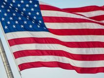 United States Flag Blowing In The Wind royalty free stock photo