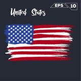 United States flag brush Stock Photography