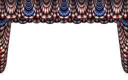 United States Flag Bunting and Stage Curtain Stock Image