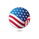 United States flag button on a white background. Vector illustration. Royalty Free Stock Photos